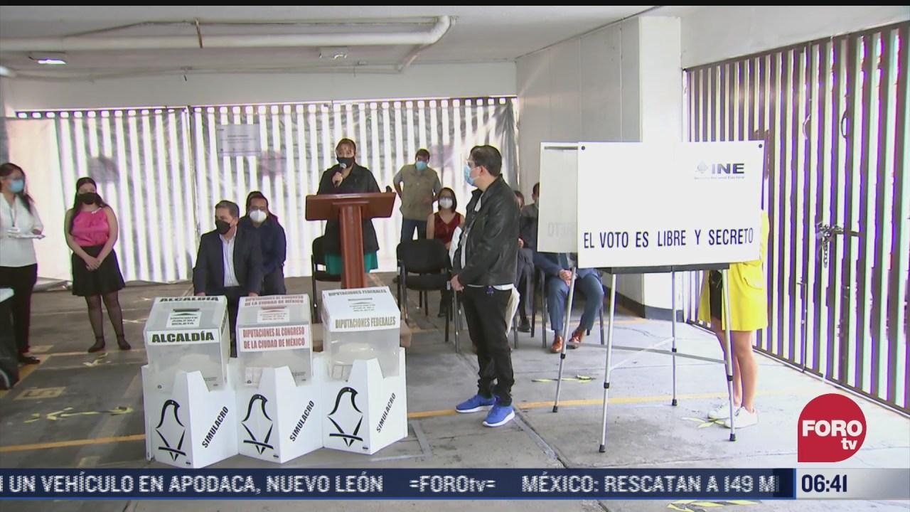realizan simulacro para las elecciones del 6 de junio