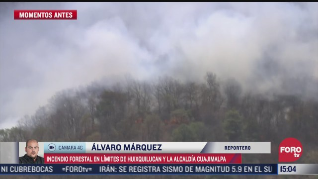 se registra incendio forestal en alcaldia cuajimalpa