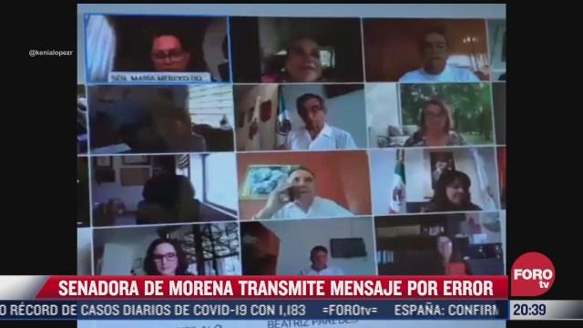 senadora de morena transmite por error mensaje sobre interes del presidente por jalisco y nl