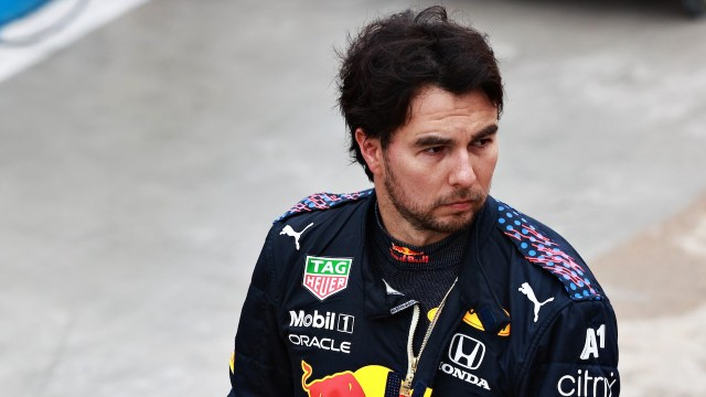 El piloto mexicano Sergio 'Checo' Pérez en el GP Emilia Romaña de Fórmula Uno (Getty Images)