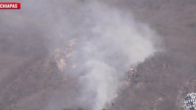 Combaten 3 incendios activos en el Cañón del Sumidero, Chiapas