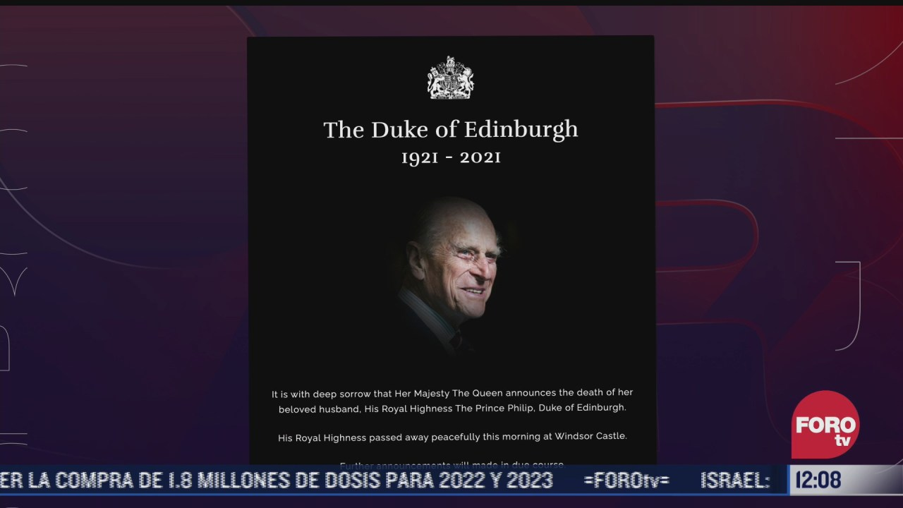 sitio web de la realeza britanica se suma al luto por muerte del principe felipe