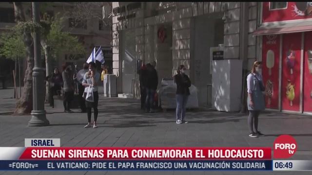 suenan sirenas para conmemorar el holocausto en israel