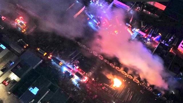 Controlan incendio de fibra óptica en Tezoyuca(Twitter: @pciviledomex)