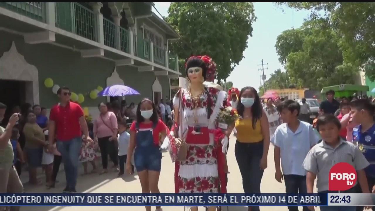 tradicional procesion de san diego de alcala en campeche