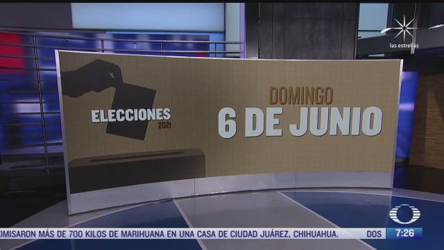 a un mes de las elecciones del 6 de junio