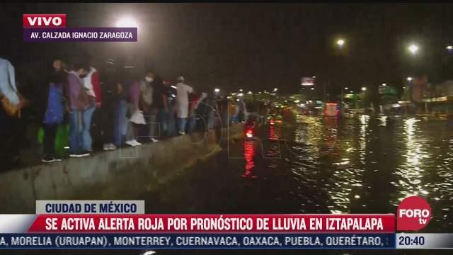 activan alerta roja por lluvias en iztapalapa