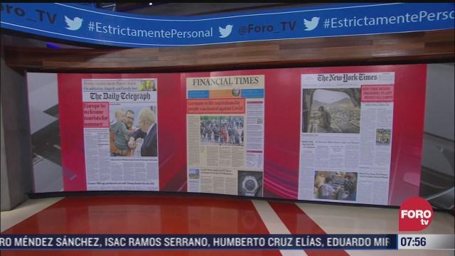 analisis de las portadas nacionales e internacionales del 4 de mayo del