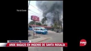 arde incendio en ingenio en tabasco