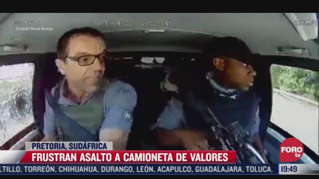 asi evaden asalto a camioneta de valores