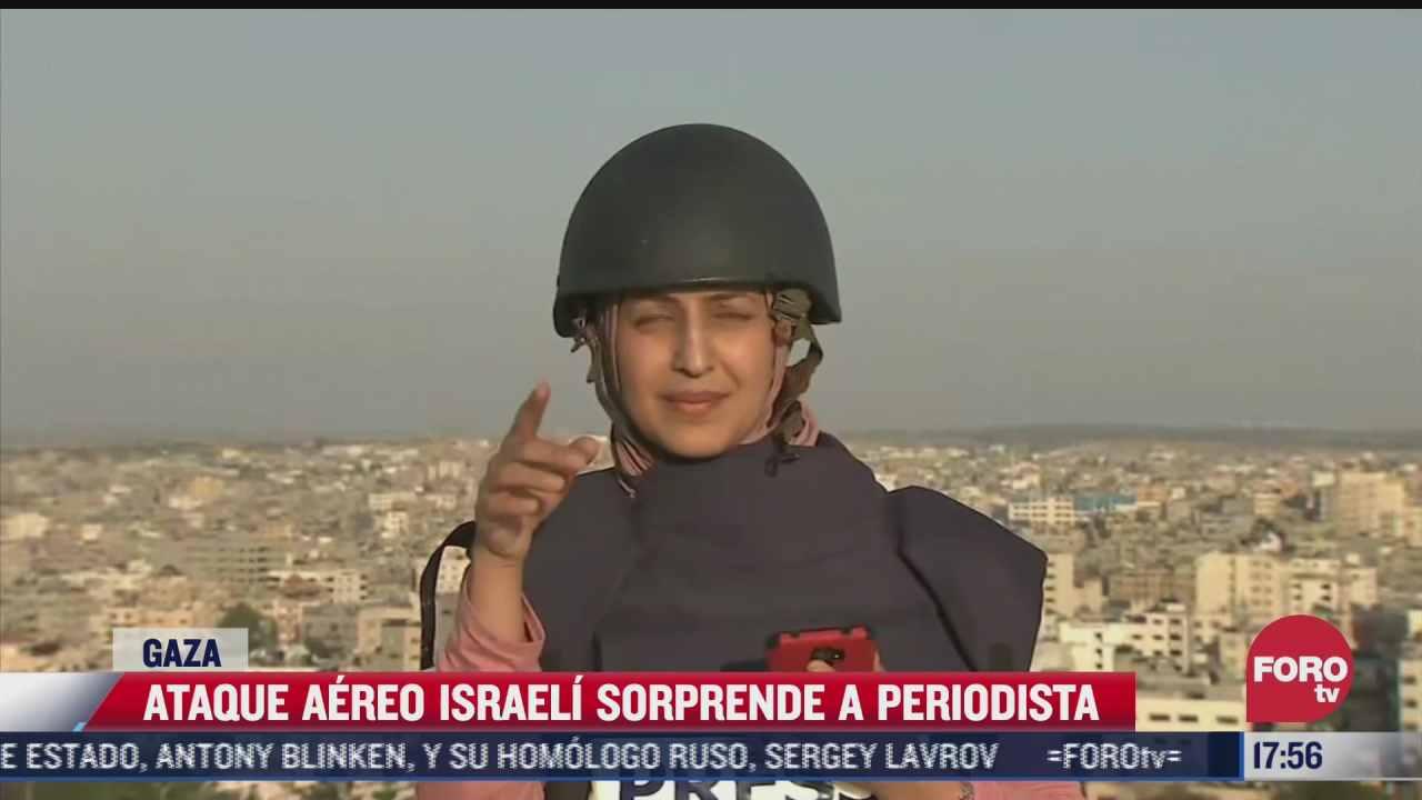 ataque aereo israeli sorprendio a una periodista