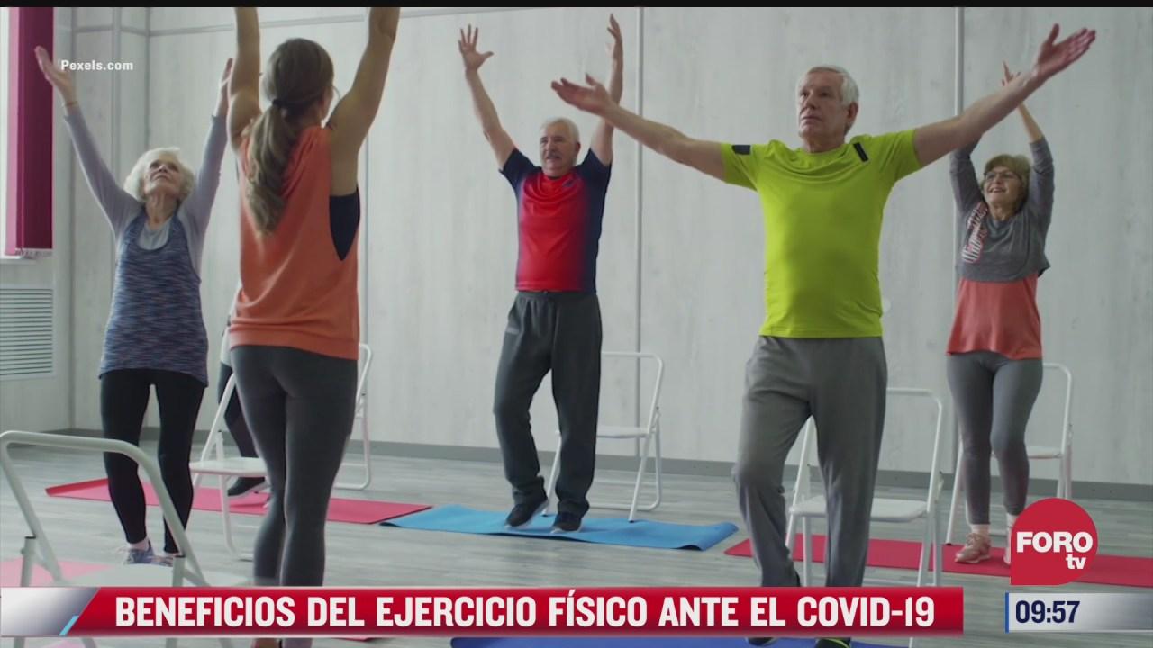 beneficios del ejercicio fisico ante el covid
