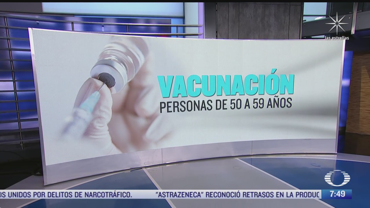 como va la vacunacion de adultos entre 50 y 59 anos en los estados