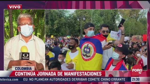 continuan movilizaciones en colombia