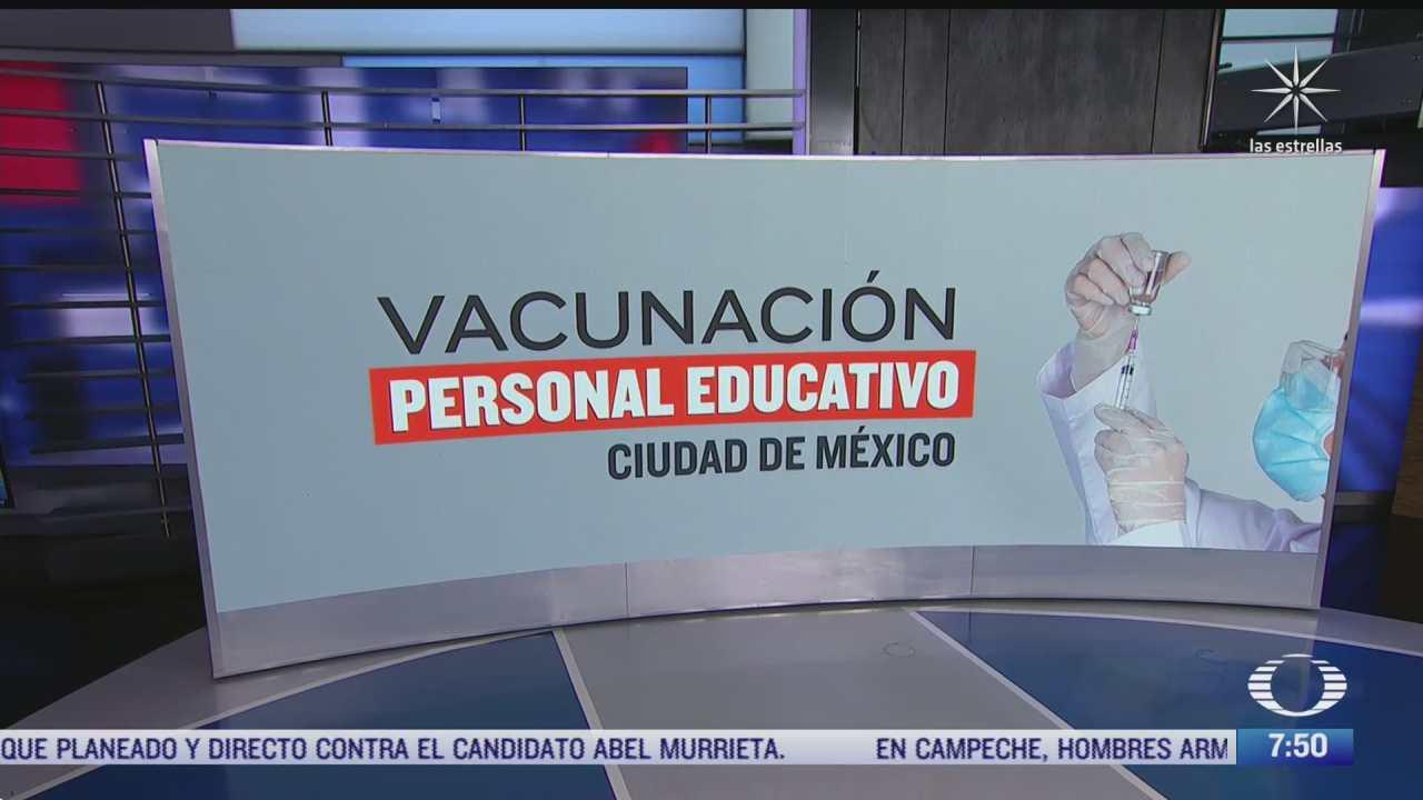 cuando comienza la vacunacion contra covid 19 a maestros y personal educativo en cdmx