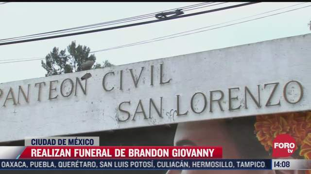 cuerpo de brandon giovanny llega al panteon de san lorenzo tezonco