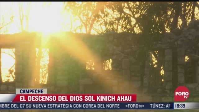 descenso del dioskinich ahau anuncia llegada de lluvias en campeche