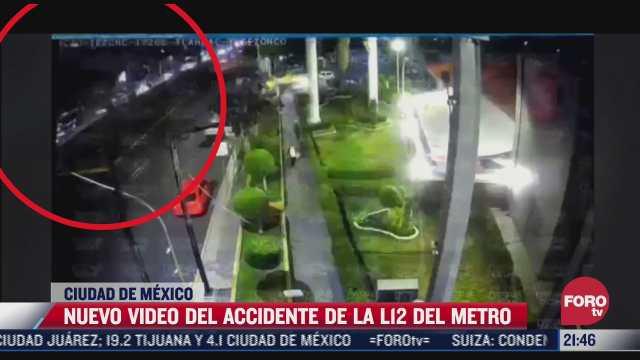 difunden nuevo video de colapso en linea 12 del metro