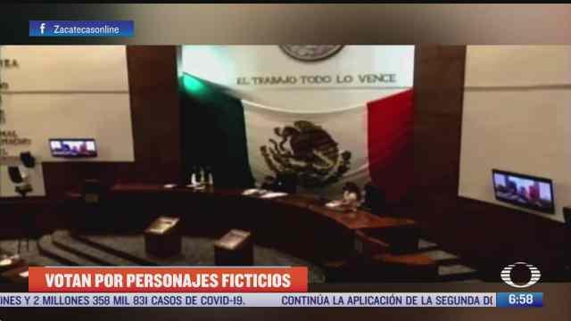 diputados de zacatecas votan por el tio gamboin y la chimoltrufia