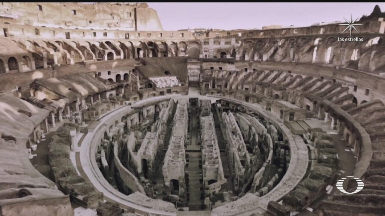 el coliseo romano volvera a tener piso