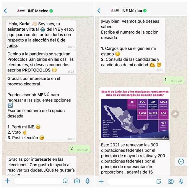 Elecciones 2021 Chatbot WhatsApp