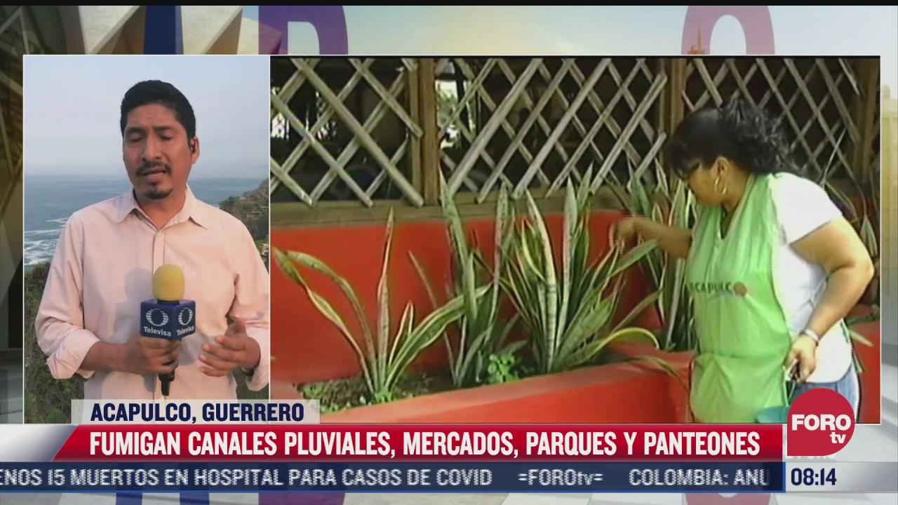 en acapulco realizan fumigacion contra el mosquito transmisor del dengue