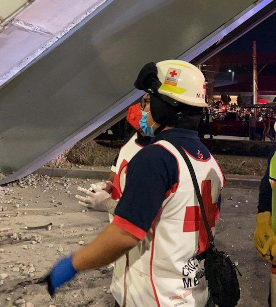 Cruz Roja comparte fotos de su ayuda en el desplome del Metro Olivos