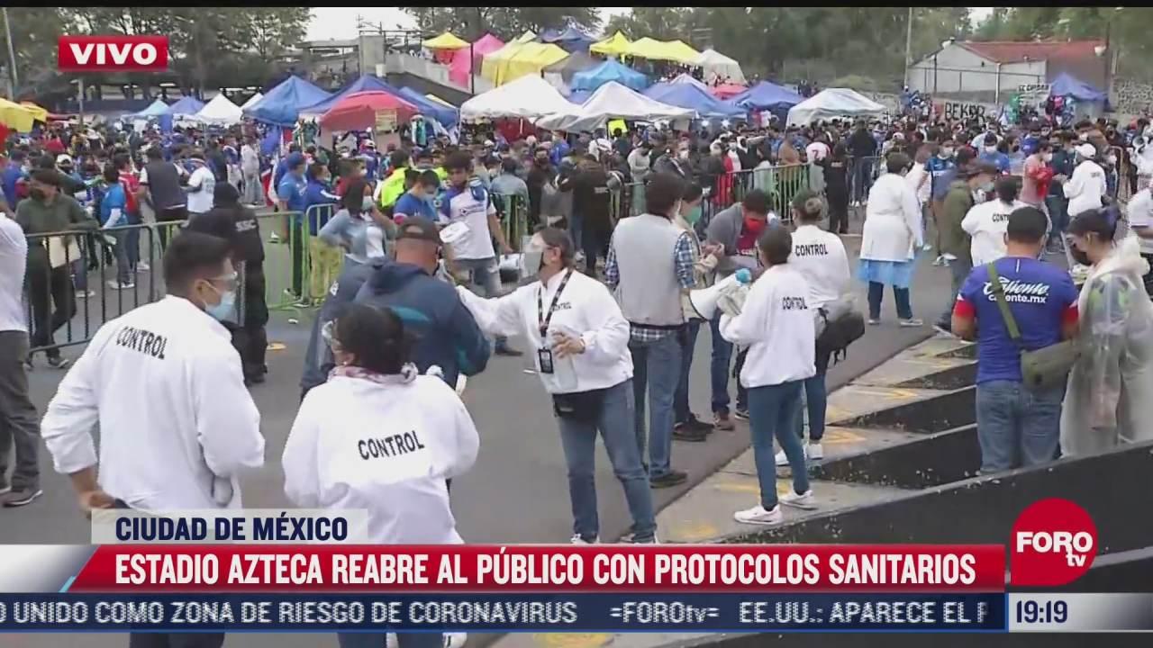 estadio azteca reabre con protocolos sanitarios