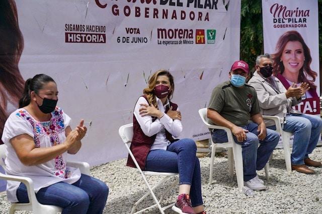 Candidata Recorrido Mercado Torres Baja California