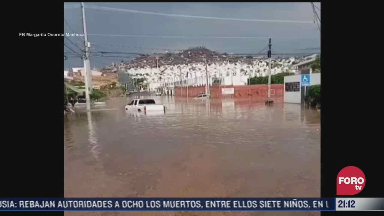 fuertes lluvias provocan inundaciones en entidades del pais