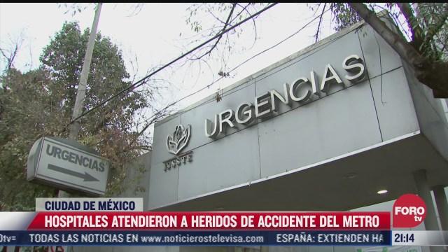 hospitales atienden a heridos tras accidente en linea 12 del metro