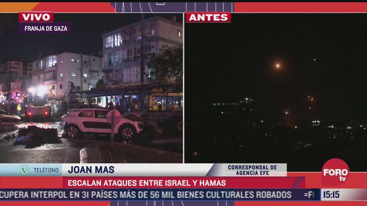 incrementan bombardeos entre israel y hamas