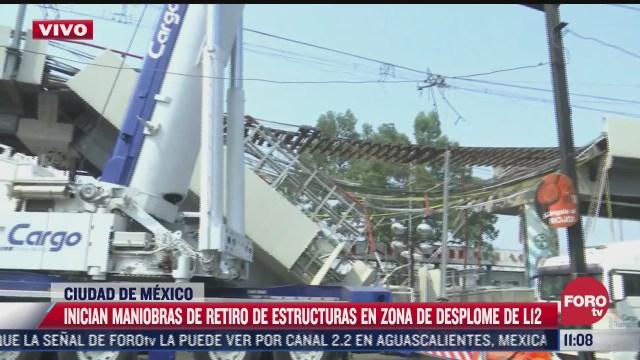 inicia retiro de estructuras tras accidente en l12 del metro