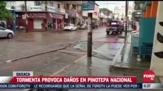 intensa tormenta provoca encharcamientos en pinotepa nacional oaxaca