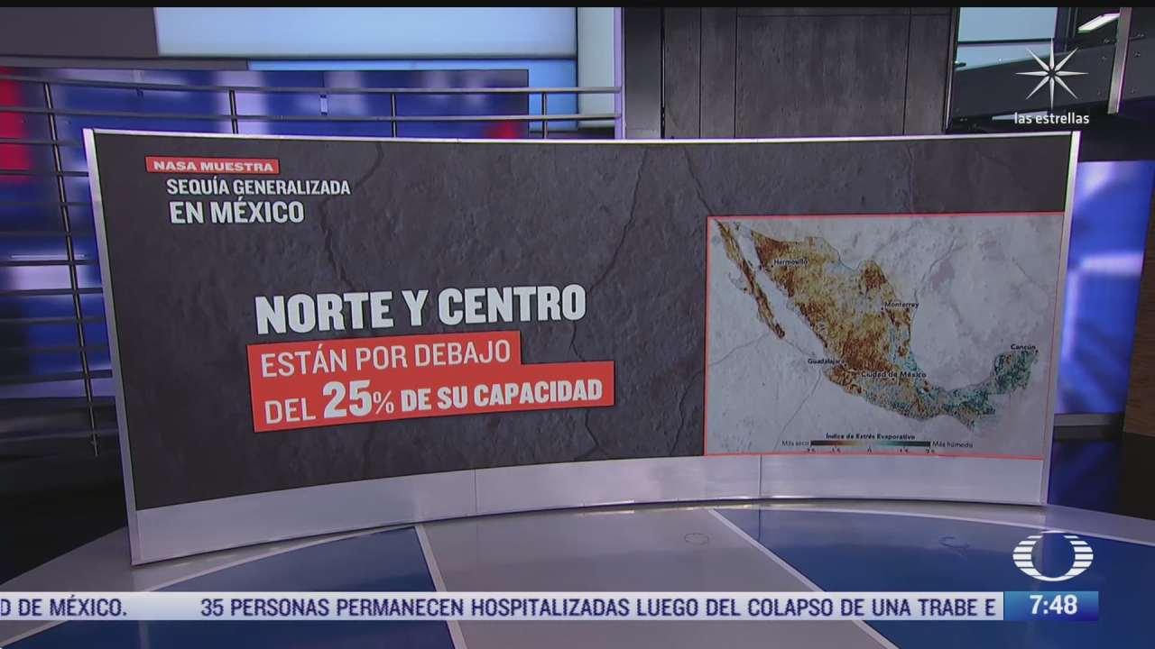 la nasa advierte sobre sequia generalizada en mexico