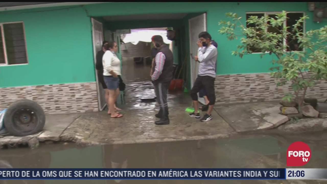 lluvia provoca afectaciones en ixtapaluca
