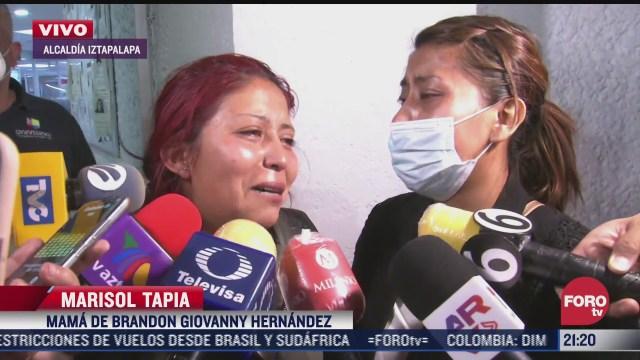 madre de brandon giovanny brinda declaracion ante la muerte de su hijo en accidente de la linea 12 del metro