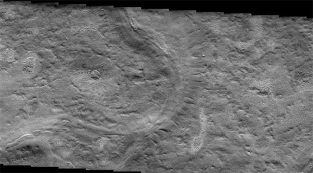 Marte Encuentran llanura con signos de actividad glaciar