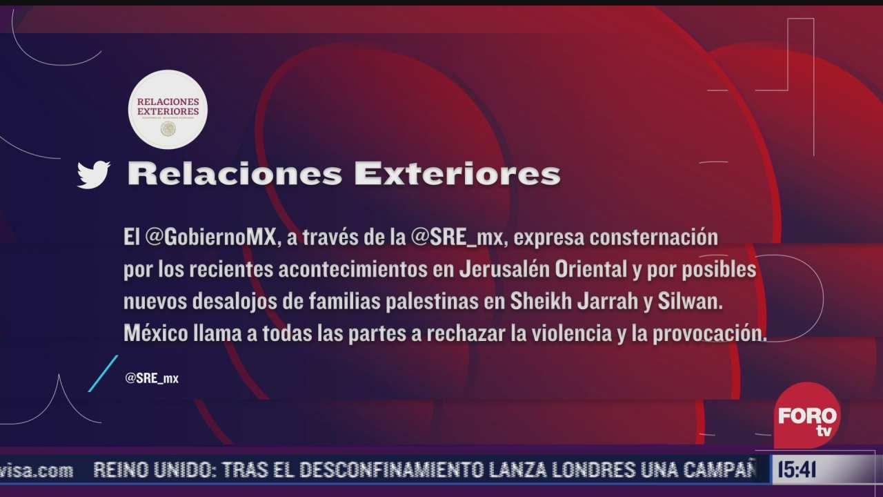 mexico expresa su apoyo ante conflicto palestino israeli