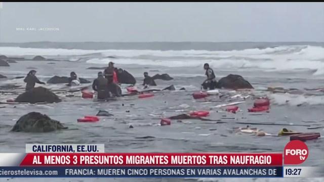 naufragio en california deja al menos 3 muertos