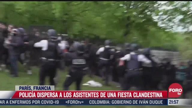 policia dispersa a los asistentes de una fiesta clandestina en paris
