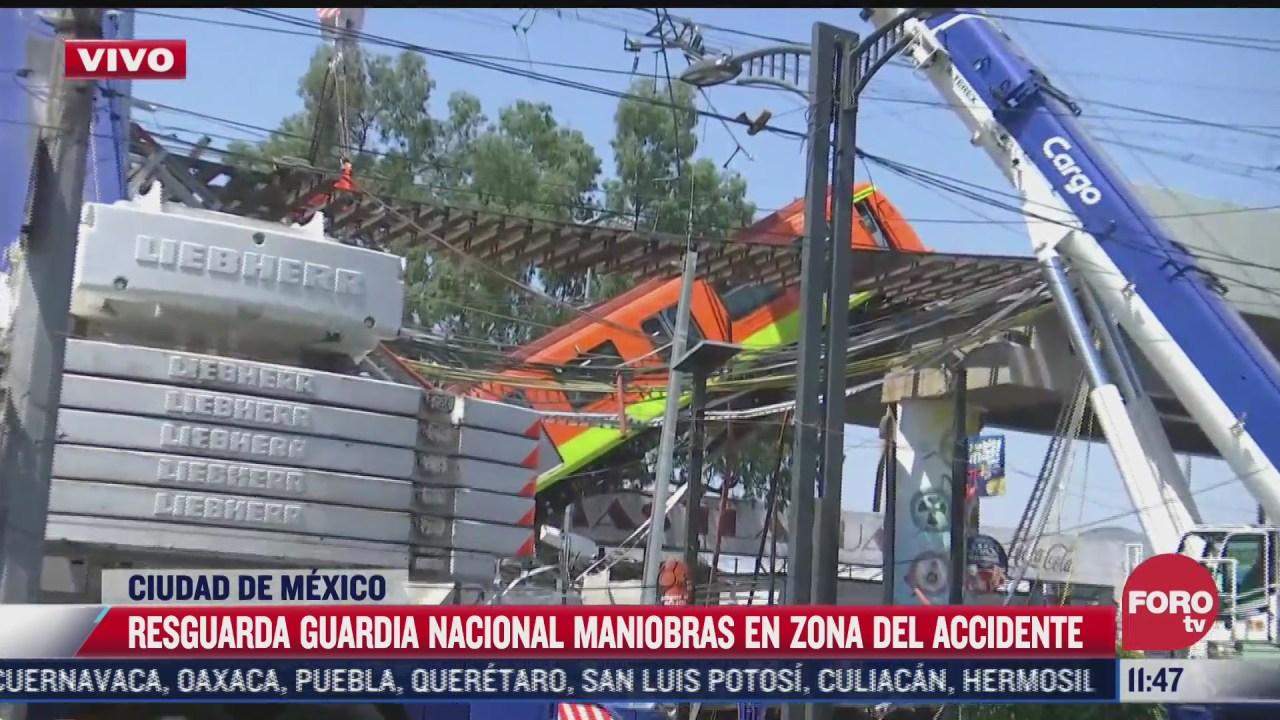 Realizan trabajos para retirar segundo vagón que colapsó en Metro Olivos