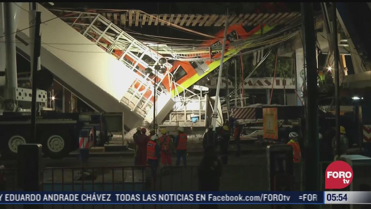 recuperan cuatro cuerpos de escombros por derrumbe en metro de cdmx