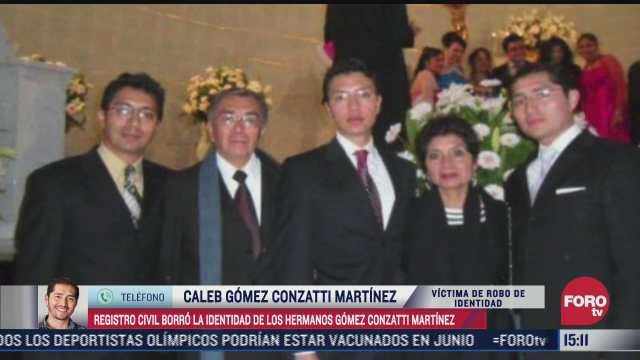 registro civil borra identidad de hermanos gomez gonzatti