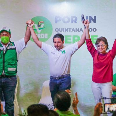 Renán Sánchez toma protesta como nuevo dirigente del Partido Verde en Cozumel