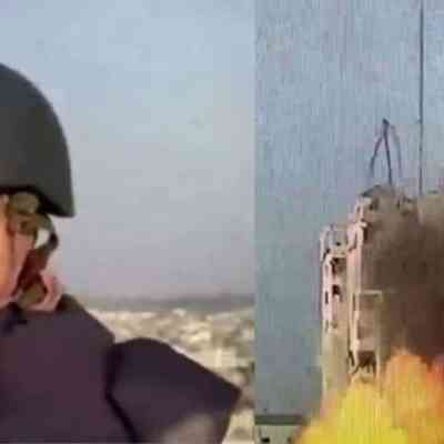 Reportera en Gaza es sorprendida por bomba durante transmisión en vivo