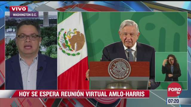 reunion virtual entre amlo y kamala harris