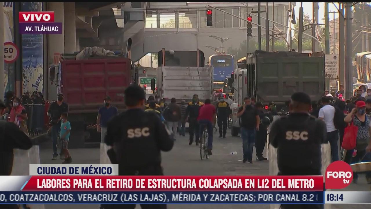 se complica movilidad en zona del accidente de la l12 del metro
