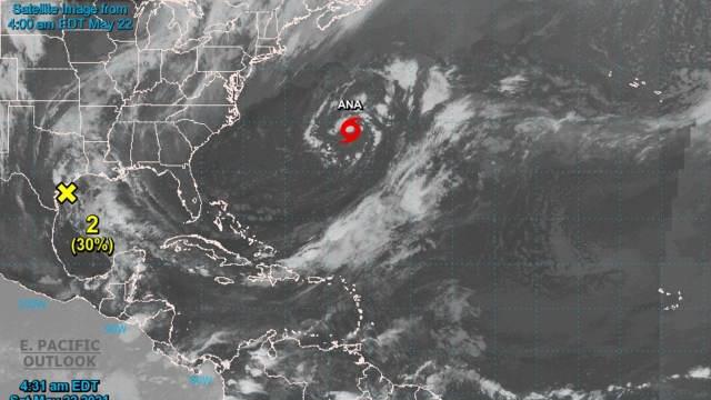Se forma la tormenta subtropical Ana, primera del año en el Atlántico