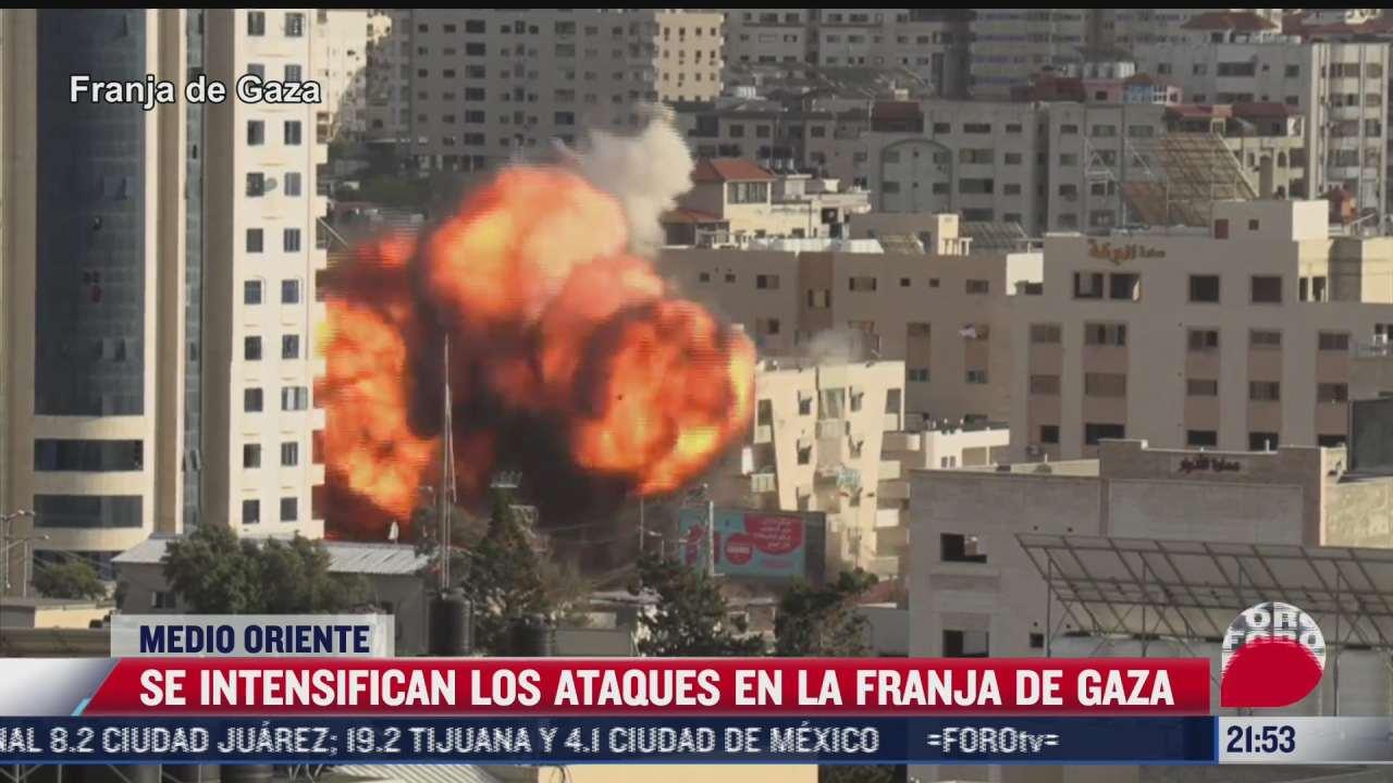 se intensifican ataques en la franja de gaza